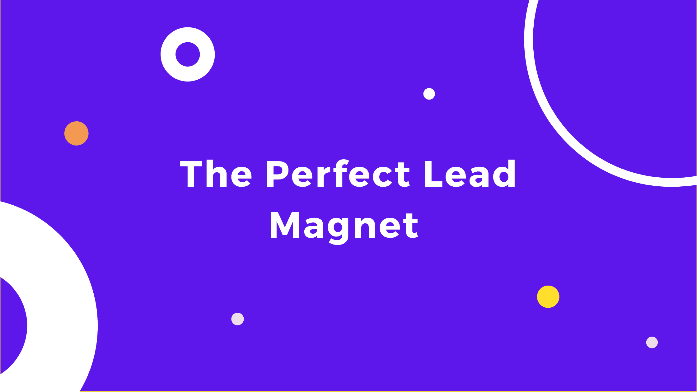 The Perfect Lead Magnet