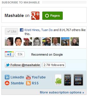 Mashable social proof as media accounts